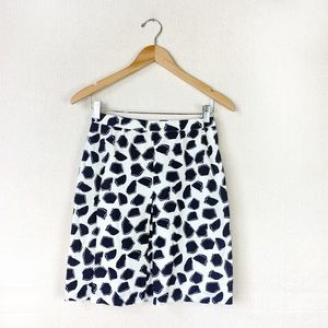 CAROLINA HERRERA linen and silk skirt size 10